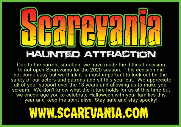 Scarevania Haunted Attraction closed