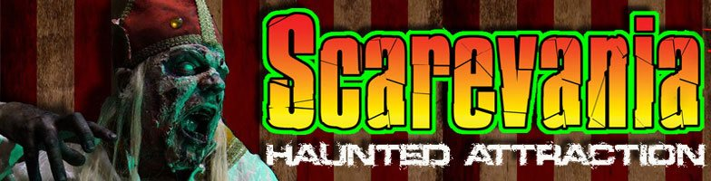 Scarevania Haunted attraction logo. Voted number one most original haunt in Indiana.